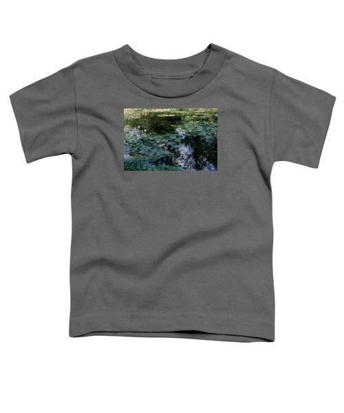 Toddler T-Shirt featuring the photograph At Claude Monet's Water Garden 10 by Dubi Roman