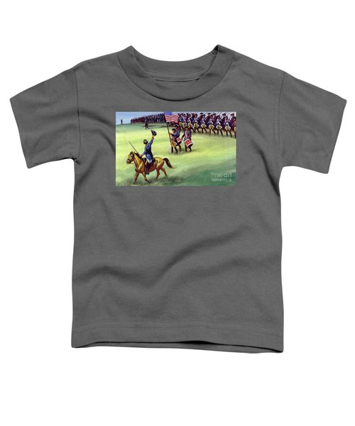 At Saratoga The Colonists Won Victory Toddler T-Shirt