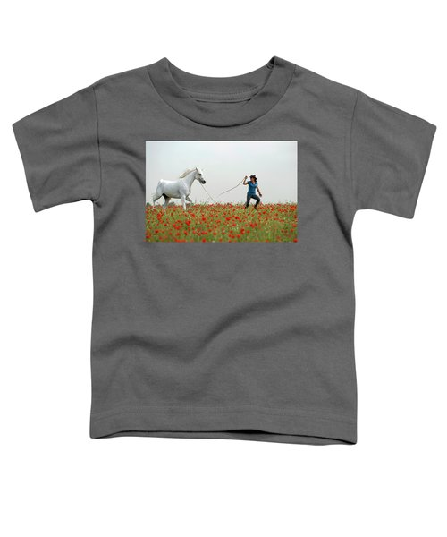 At The Poppies' Field... 2 Toddler T-Shirt by Dubi Roman