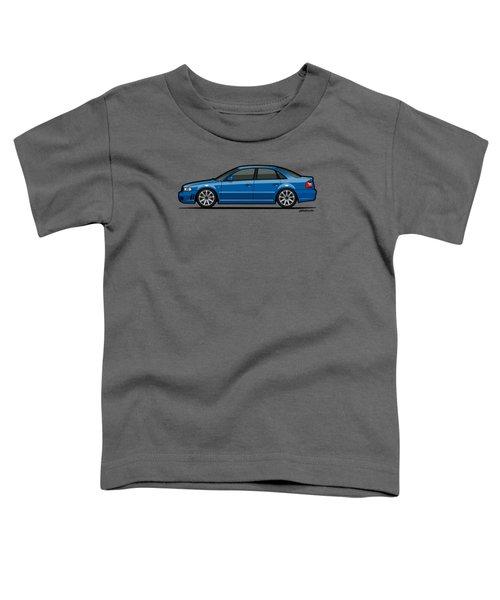 Audi A4 S4 Quattro B5 Type 8d Sedan Nogaro Blue Toddler T-Shirt by Monkey Crisis On Mars