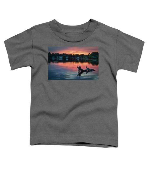 August Sunset Glow Toddler T-Shirt
