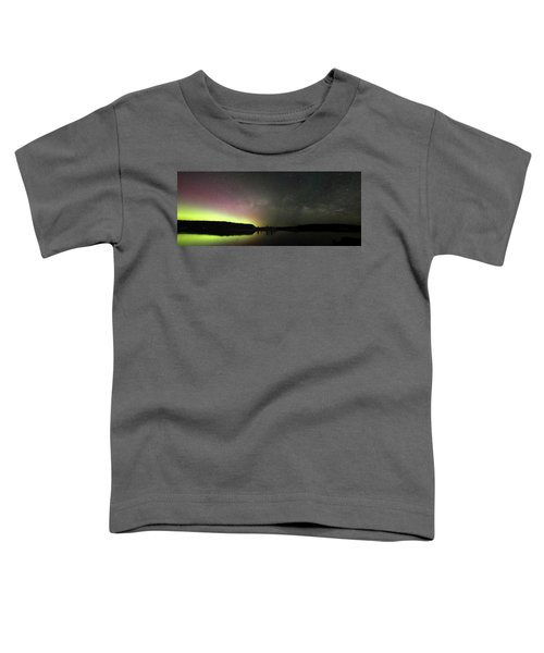 Aurora Borealis And Milky Way Over Yellowstone River Toddler T-Shirt