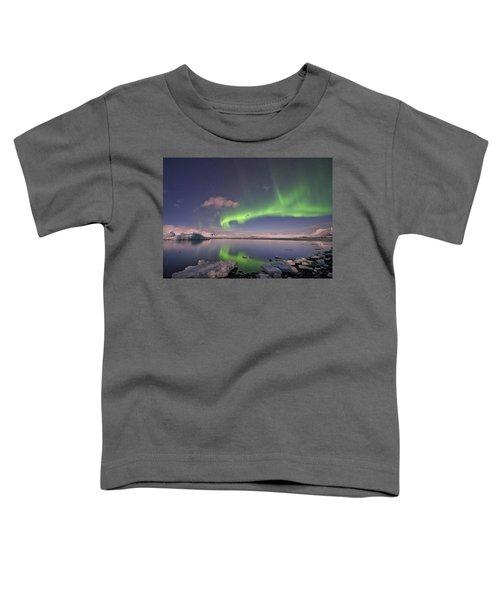 Aurora Borealis And Reflection #2 Toddler T-Shirt
