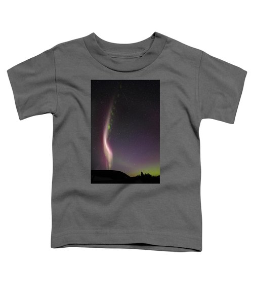 Auroral Phenomonen Known As Steve With A Large Meteor Toddler T-Shirt