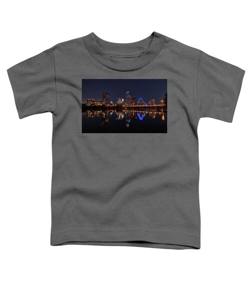 Austin Skyline At Night Toddler T-Shirt