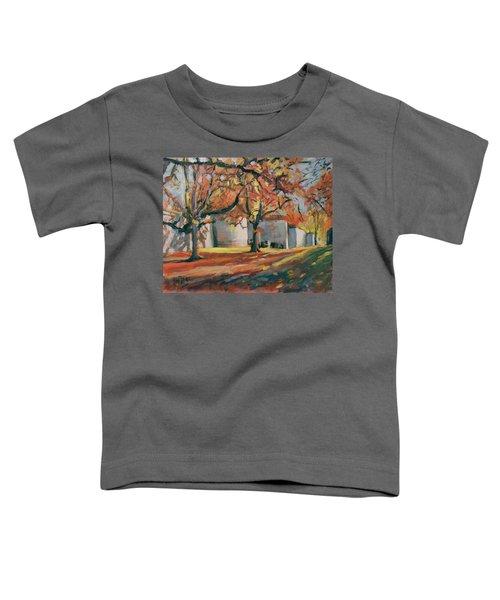 Autumn Along Maastricht City Wall Toddler T-Shirt by Nop Briex