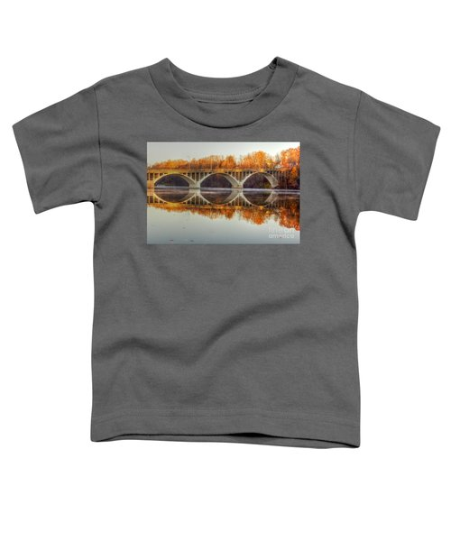 Autumn Bridge Reflections Toddler T-Shirt