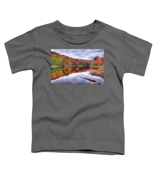 Toddler T-Shirt featuring the photograph Autumn Color At The Pond by David Patterson