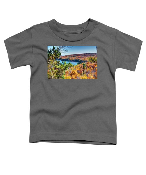 Autumn Colors Overlooking Lax Lake Tettegouche State Park II Toddler T-Shirt