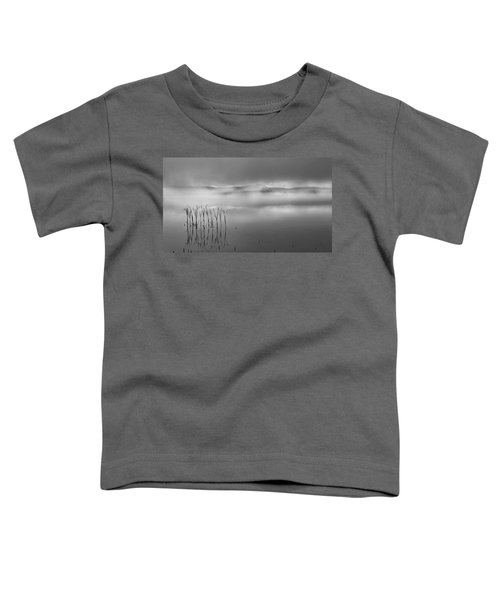 Toddler T-Shirt featuring the photograph Autumn Fog Black And White by Bill Wakeley