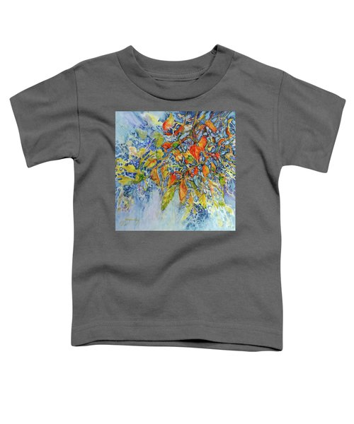 Toddler T-Shirt featuring the painting Autumn Lace by Joanne Smoley