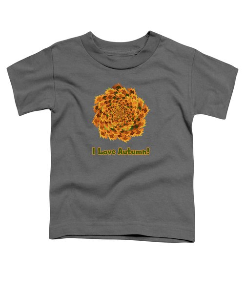 Autumn Leaves Pattern Toddler T-Shirt