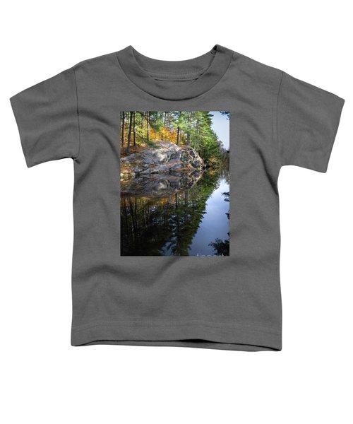 Autumn Reflections At Runaround Pond In Durham Maine  -20224 Toddler T-Shirt