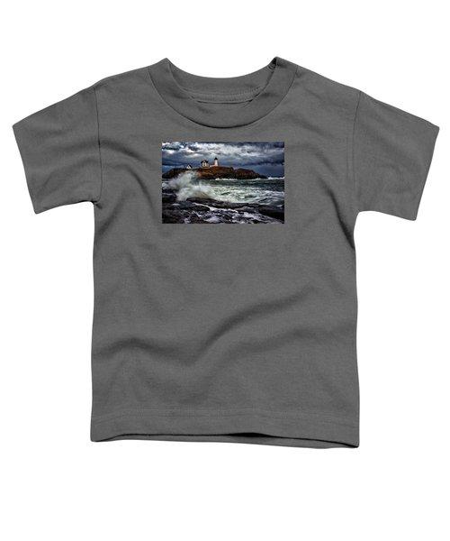 Autumn Storm At Cape Neddick Toddler T-Shirt