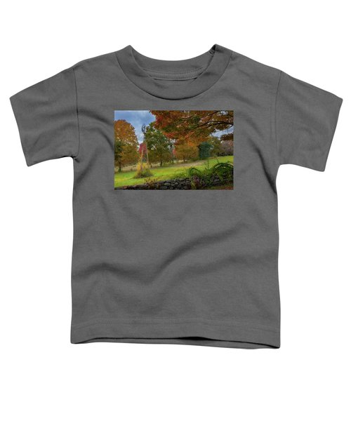 Toddler T-Shirt featuring the photograph Autumn Windmill by Bill Wakeley