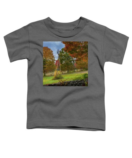 Toddler T-Shirt featuring the photograph Autumn Windmill Square by Bill Wakeley