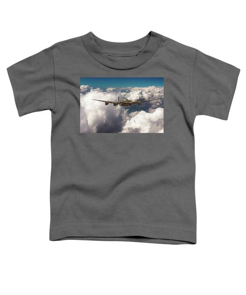 Toddler T-Shirt featuring the photograph Avro Lancaster Above Clouds by Gary Eason