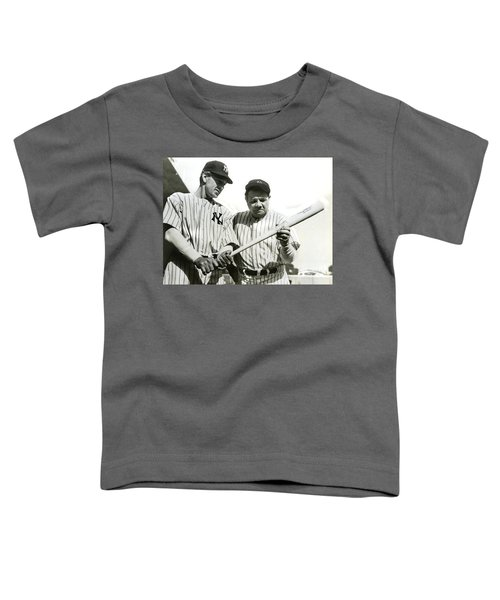 Babe Ruth And Lou Gehrig Toddler T-Shirt by Jon Neidert