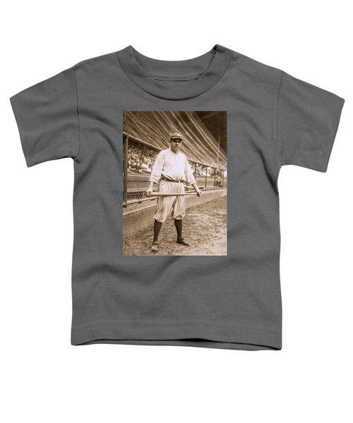 Babe Ruth On Deck Toddler T-Shirt by Jon Neidert