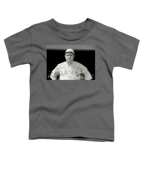 Babe Ruth Red Sox Toddler T-Shirt by Jon Neidert
