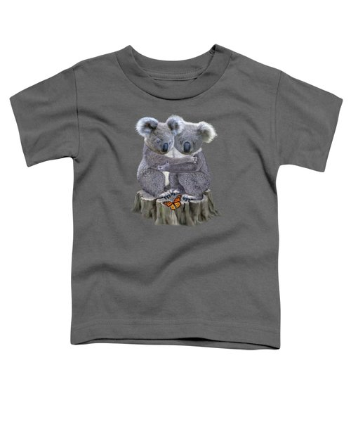 Baby Koala Huggies Toddler T-Shirt by Glenn Holbrook