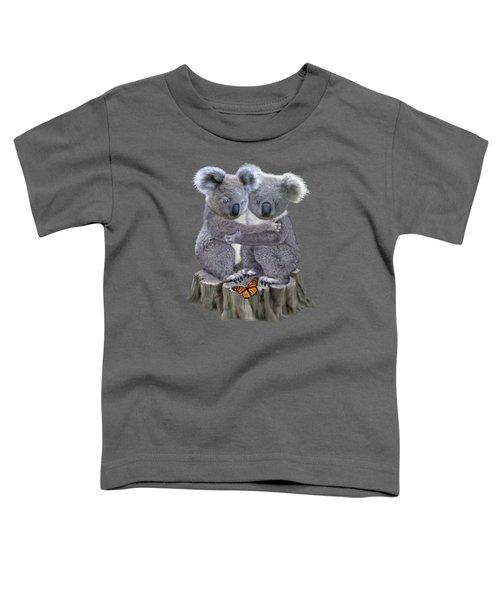Baby Koala Huggies Toddler T-Shirt by Glenn Holbrook
