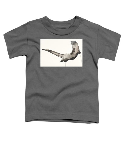 Back Awash   Otter Toddler T-Shirt by Mark Adlington