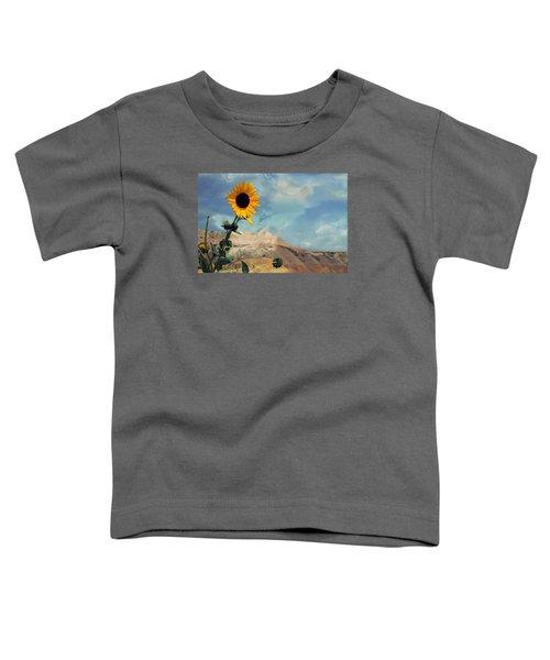 Badlands Of South Dakota Yellow Flower Toddler T-Shirt