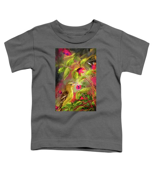 Baltimore Oriole Art- Baltimore Female Oriole Art Toddler T-Shirt by Lourry Legarde