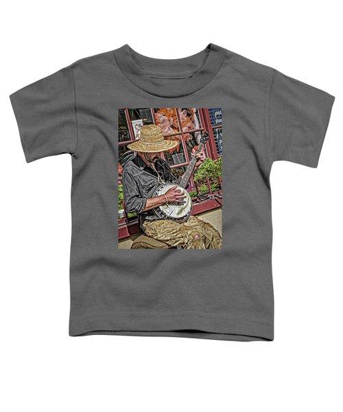 Banjo Man Orange Toddler T-Shirt