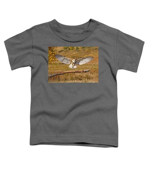 Barn Owl Landing Toddler T-Shirt