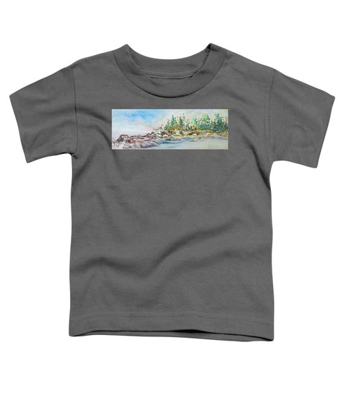 Toddler T-Shirt featuring the painting Barrier Bay by Joanne Smoley