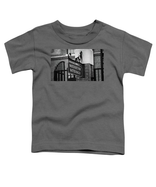 Baseball Warning Bw Toddler T-Shirt