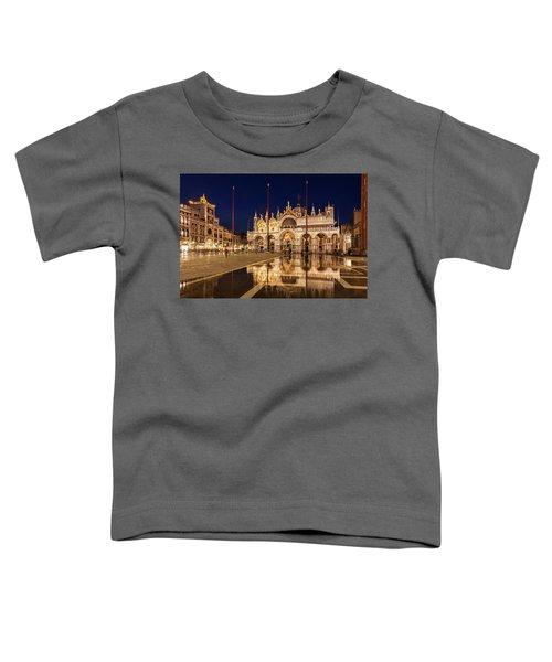 Basilica San Marco Reflections At Night - Venice, Italy Toddler T-Shirt