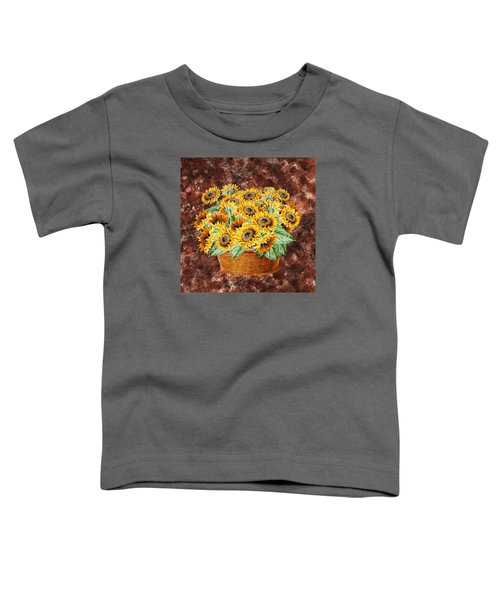Basket With Sunflowers Toddler T-Shirt