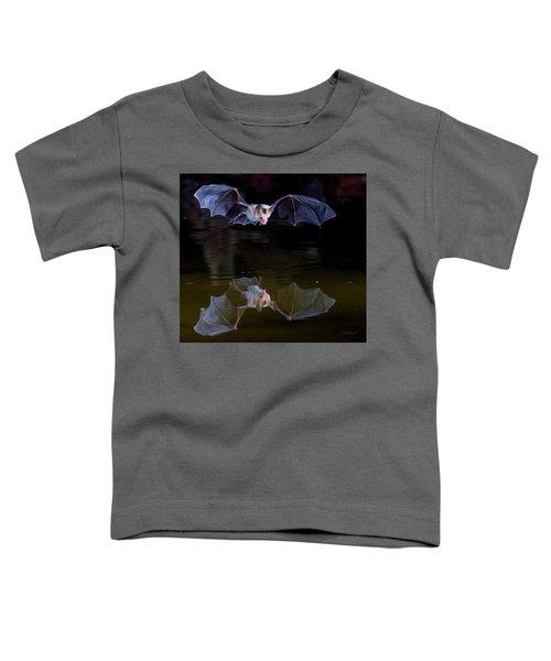 Bat Flying Over Pond Toddler T-Shirt