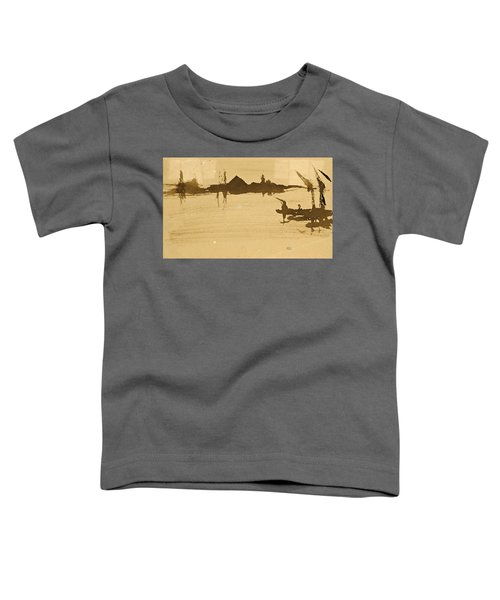 Battersea Reach Looking  Across The Thames Toddler T-Shirt