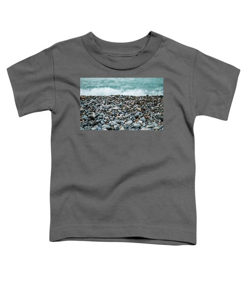 Toddler T-Shirt featuring the photograph Beach Pebbles by MGL Meiklejohn Graphics Licensing