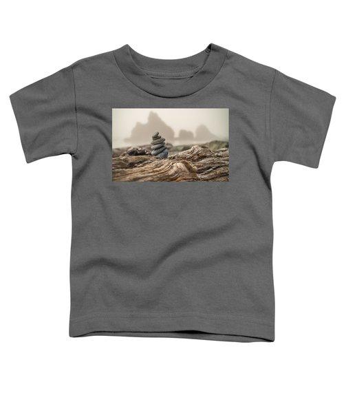 Beach Stack Toddler T-Shirt by Kristopher Schoenleber