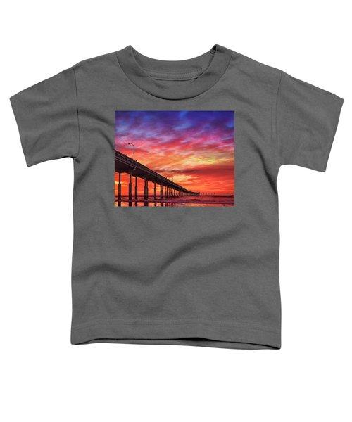 Beach Sunset Ocean Wall Art San Diego Artwork Toddler T-Shirt