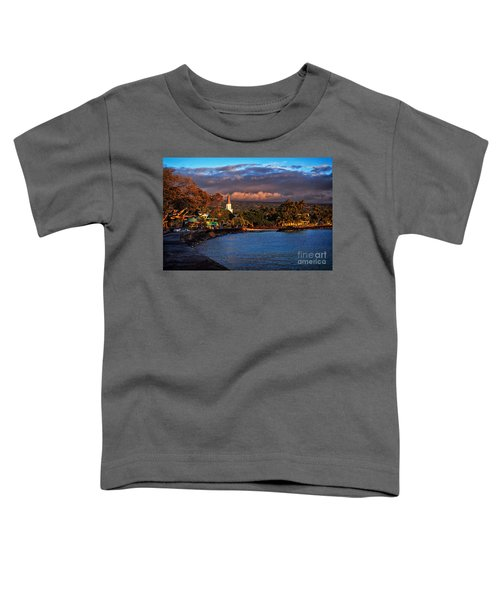 Beach Town Of Kailua-kona On The Big Island Of Hawaii Toddler T-Shirt