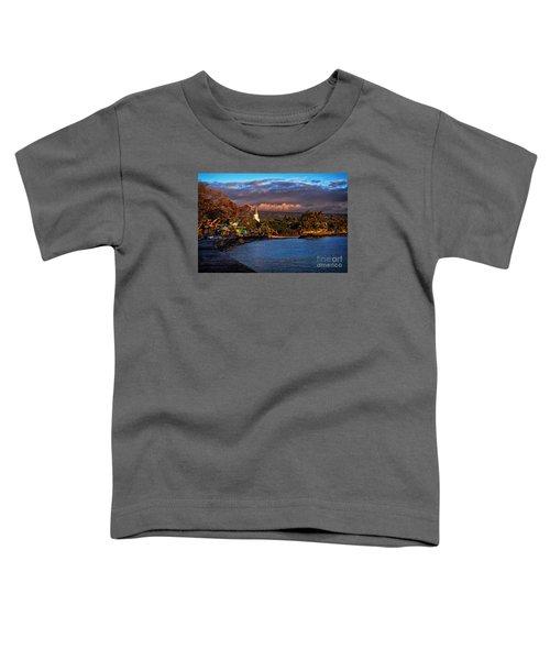 Beach Town Of Kailua-kona On The Big Island Of Hawaii Toddler T-Shirt