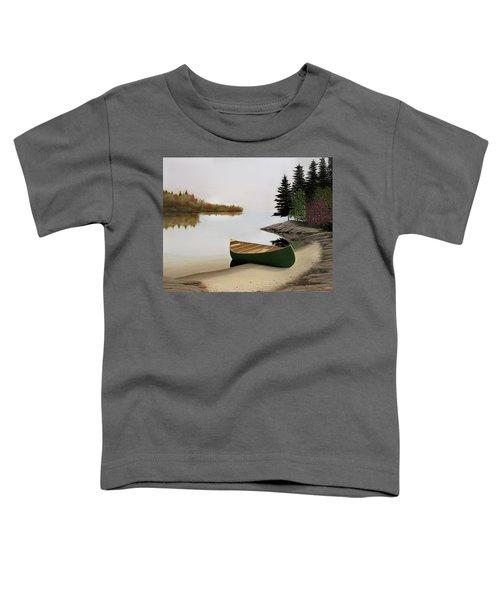 Beached Canoe In Muskoka Toddler T-Shirt