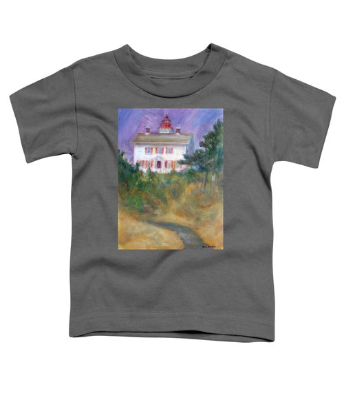 Beacon On The Hill - Lighthouse Painting Toddler T-Shirt
