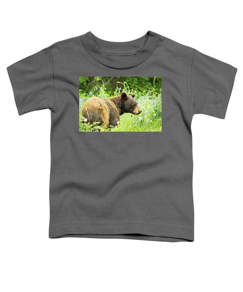 Bear In Flowers Toddler T-Shirt