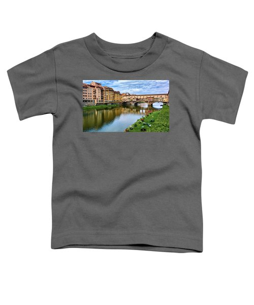 Ponte Vecchio On A Spring Day In Florence, Italy Toddler T-Shirt