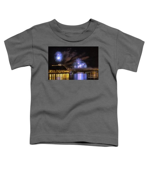 Beautiful Fireworks In Budapest Hungary Toddler T-Shirt