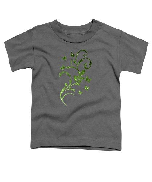 Beautiful Light Green Greenery Glitter Sparkles Toddler T-Shirt