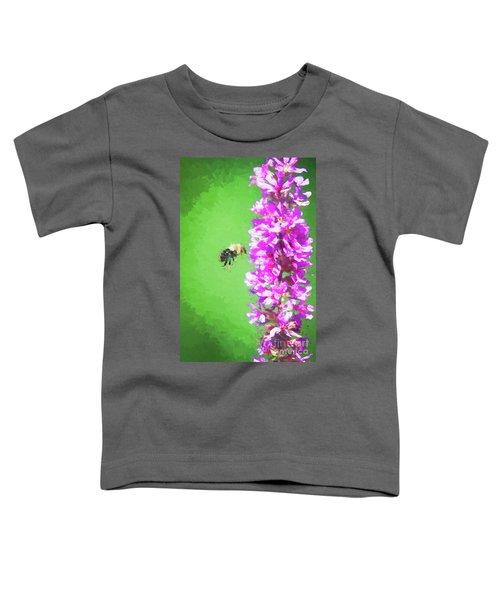 Bee Kissing A Flower Toddler T-Shirt