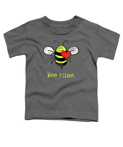 Bee Mine Cute Bee With Heart For Valentines Day Toddler T-Shirt